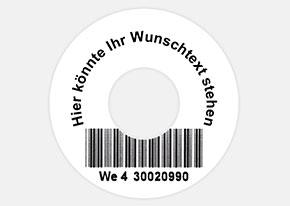 Druckbeispiel Barcode-Etikett 42 mm rund