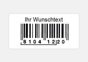 Druckbeispiel Barcode-Etikett 50 x 25 mm